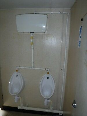 Urinals x2, toilet WC & hand basin with all fittings, Restaurant pub club Clean