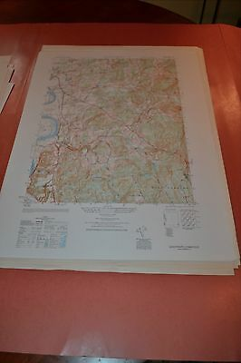 1940's Army (like USGS) topographic map Glastonbury Connecticut -6467 II NE
