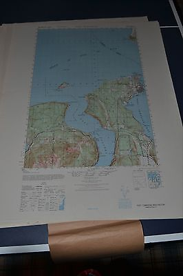 1940's Army (like USGS) Topo map Port Townsend Washington Sheet 1480 III