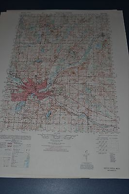 1940's Army (like USGS) topo map Battle Creek Michigan -Sheet 3968 I