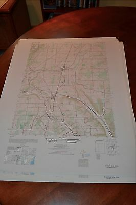 1940's Army (like USGS) topographic map Nunda New York -Sheet 5469 III SW