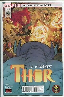 Mighty Thor #703 - Russell Dauterman Main Cover - Marvel Comics/2018