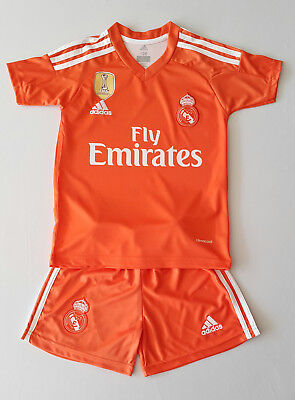 Real Madrid Torwart Kinder Trikot Set, 2017/18, Nr. 1, Neu