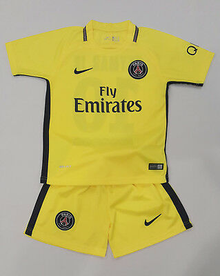PSG Away Kinder Trikot Set Neymar, 2017/18, Nr. 10, Neu