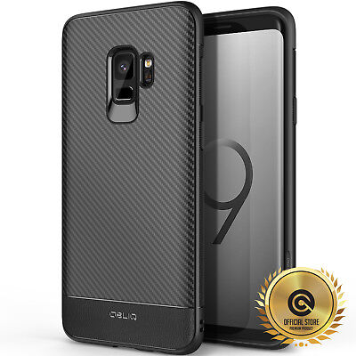 OBLIQ® Samsung Galaxy S9 [Flex Pro] Black TPU Shockproof Slim Case Cover Carbon