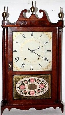 """Antique Mid-1800's """"eli Terry & Sons"""" 2 Weight Pillar & Scroll Clock. *excellent"""