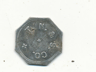 M 1206   Tonopah Nevada Trade Token  T.n &s Co  News And Stationary  25C