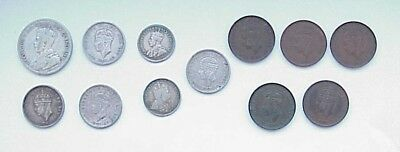 VINTAGE Newfoundland Coin lot of 12: One, Five, Ten & Twenty-Five Cent Coins
