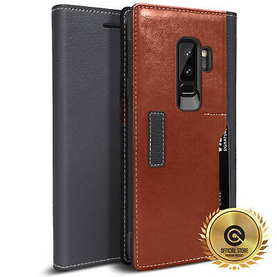 OBLIQ® for Samsung Galaxy S9 Plus [K3 Wallet] Hand Made Leather Flip Case Cover