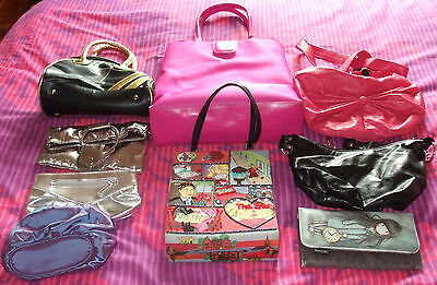 Great Selection Of 9 Ladies Clutch,Hand,purse, Bags - Used Good Condition
