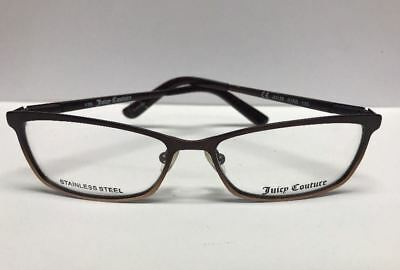 5ad66b013600 Juicy Couture 135 SS 01R6 Bronze Brown Womens Eyeglass Frames RX Authentic  Italy