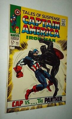Tales of Suspense #98 HIGH GRADE Captain America Black Panther Kirby Lee