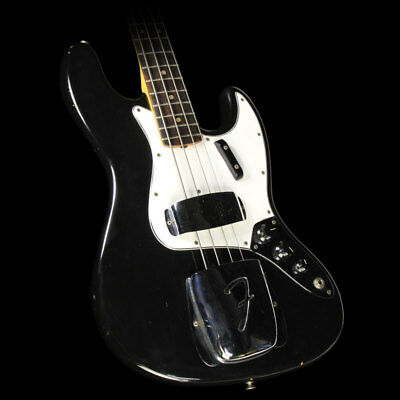 Used 1965 Fender Jazz Bass Electric Bass Guitar Refinished Black