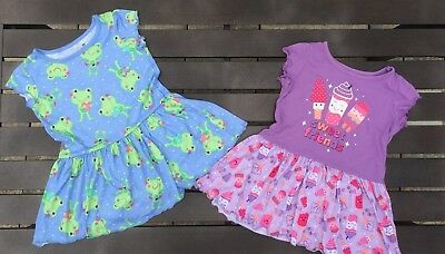 Toddler Girls JUMPING BEANS Sleepwear Pajama Gowns 2 Pieces - 2T
