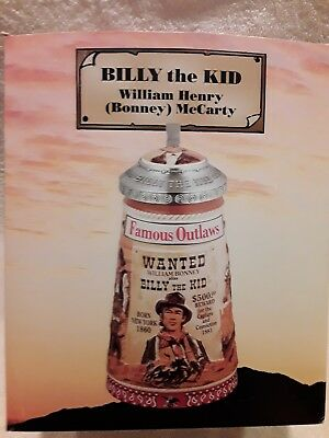 """Anheuser Busch """"billy The Kid"""" Famous Outlaws Series Stein Cs597"""