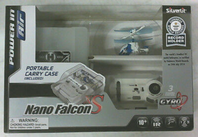NEW Silverlit Nano Falcon XS Worlds Smallest Remote Control Helicopter Blue $50