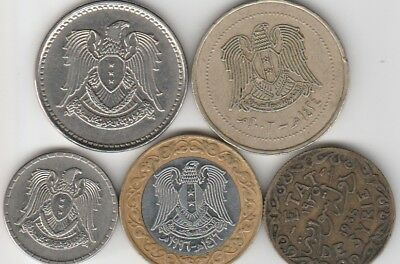 5 different world coins from A MIDDLE EAST COUNTRY