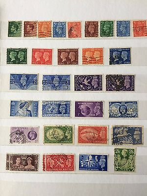 GREAT BRITAIN selection of King George V1 issues.