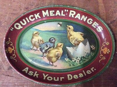 "Nice ""quick Meal Ranges"" Advertising Tip Tray Features ""chicks""-Wow Condition"