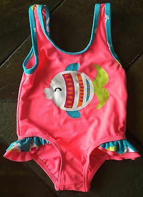 Girls Bathing Siuit Size 18 Months One Piece Fish Baby Girls Boutique Whippete