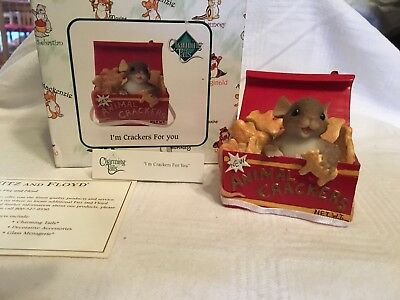 "Charming Tails ""I'M CRACKERS FOR YOU"" DEAN GRIFF NIB ANIMAL CRACKERS"