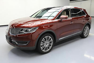 2016 Lincoln MKX Reserve Sport Utility 4-Door 2016 LINCOLN MKX RESERVE PANO NAV CLIMATE LEATHER 26K #L44764 Texas Direct Auto