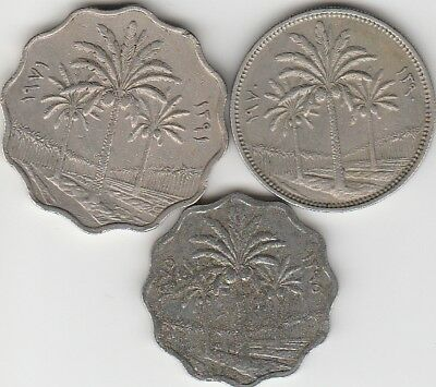 3 different world coins from IRAQ