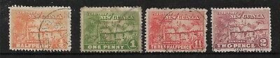 Papua Huts Issue ½d,1d,1½d & 2d Used Sold as Per Scan