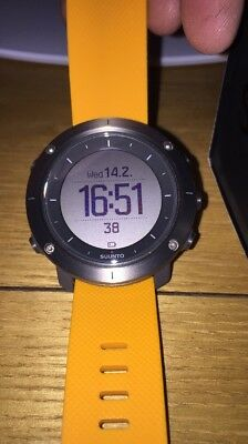 Suunto Traverse Watch With Yellow Strap