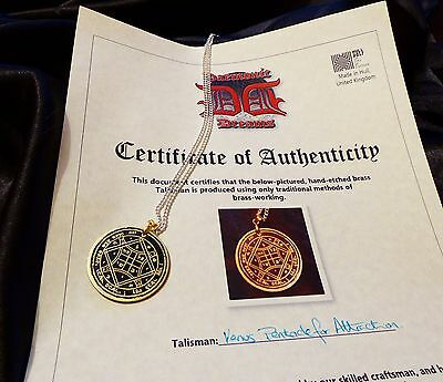AUTHENTIC ATTRACTION TALISMAN SOLID BRASS Occult Magic Amulet Magick Witchcraft