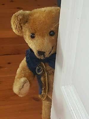 Antique bear Early American 12 1/2 inch - mohair and fully jointed