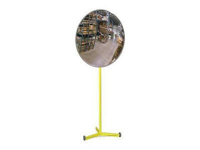 """Warehouse Aisle Loading Dock Safety Small Convex Pedestal Mirror US Made 18"""" New"""