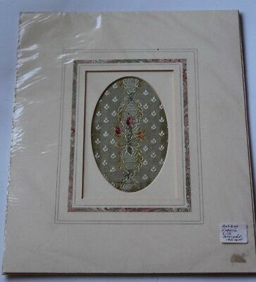 ANTIQUE FRENCH SILK BROCADE 19th CENTURY - FRAMED