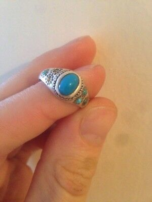 Persian Antique Turqoise Silver Ring