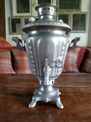 Genuine Antique Russian Samovar, very early electric, white metal, complete