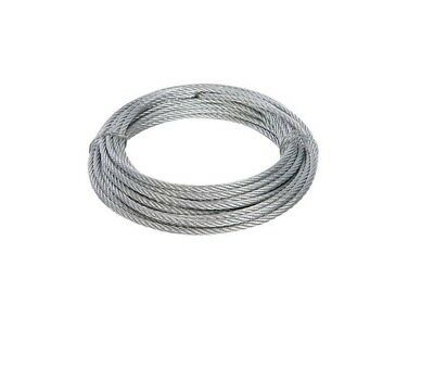 Galvanised Wire Rope Zinc Plated Corrosion Resistant Weatherproof Choice Size