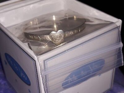 Tatty Teddy sterling silver baby bangle