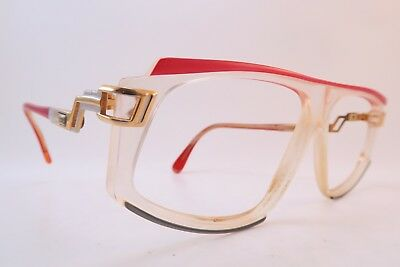Vintage 80s Cazal eyeglasses frames red grey Mod 170 made in West Germany