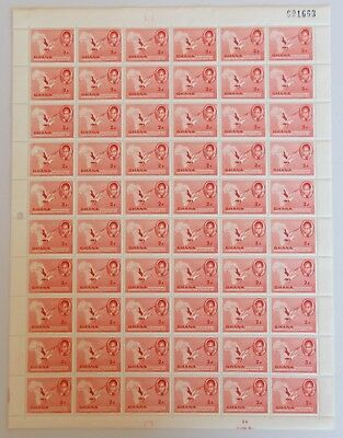 Ghana - SG166 2d 1957 Independence issue. Complete sheet of 60.