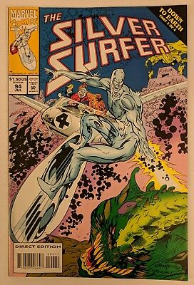 The Silver Surfer #94 Marvel Comic 1994 Fantastic Four Adam Warlock Infinity