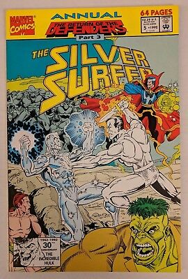 The Silver Surfer Annual #5 Marvel Comic 1992 Return of the Defenders Ron Marz