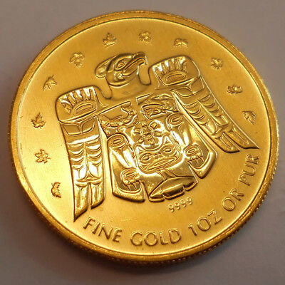 1 oz Gold Maple Leaf Privy Mark Vancouver 2009 - 50 Dollar Kanada 999,9