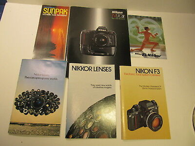 Nikon Nikkor 20 Piece Group Lot Camera & Lens Brochures & Specifications