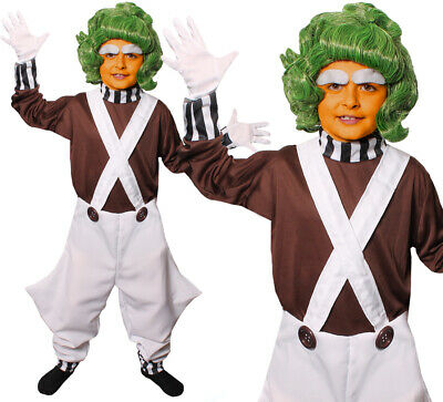 KIDS FACTORY WORKER COSTUME AND WIG WORLD BOOK DAY FANCY DRESS OUTFIT BOYS GIRLS