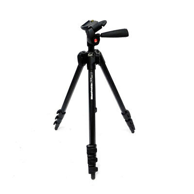 Manfrotto 7321YB 4-Section Aluminum Tripod w/ 3-Way Head & Bag Supports 5.5 Lbs