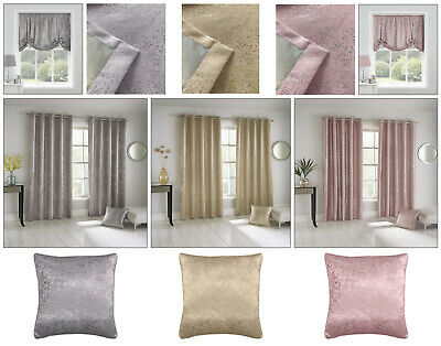 Halo Glitter Sparkle Shimmer Thermal Block Out Eyelet Curtains Ring Top Pairs