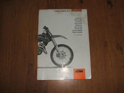 KTM 125 SX EU,150 SX EU,250 SX EU,300 XC EU/USA owner's manual - 2014;3213030en.