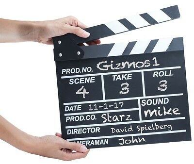 21cm Chalk Board Clapper Board Movie Film Media YouTube Director's Novelty Gift