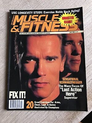 Muscle & Fitness Arnold Schwarzenegger July 1993 Bodybuilding