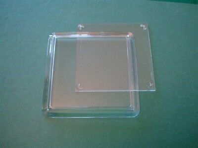 Fifty Acrylic Clear Square Coasters (extra depth for craft) - 80mm x 80mm insert